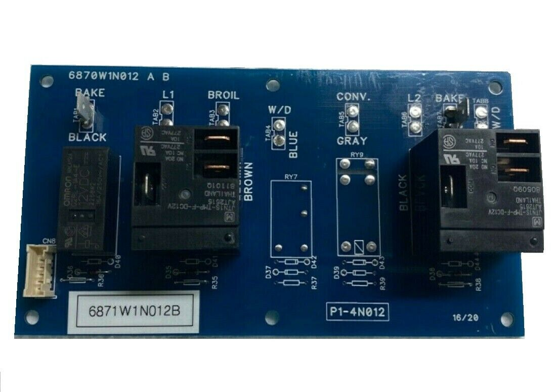 6871W1N012B Oven/Range Relay Control Board for LG
