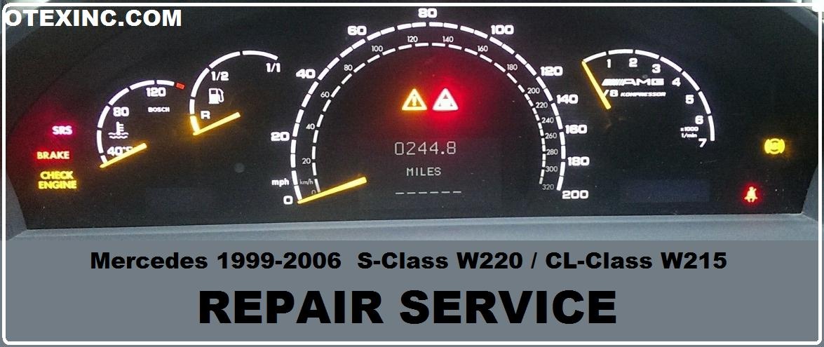 MERCEDES W220 W215 CLUSTER BACKLIGHT REPAIR